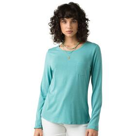 Prana Foundation Langarm Rundhalsshirt Damen azurite heather